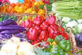 Verse groenten beschikbaar op de markt — Stockfoto