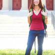 Happy Female Student At College Campus — Stock Photo