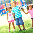 Little Children With Soccer Ball At Park — Stock Photo #30429219