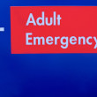 Adult emergency sign — Stock Photo