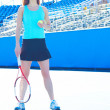 Female Tennis Player Looking Away — Stock Photo #30429521