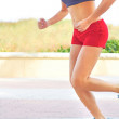 Sporty Woman Jogging — Stockfoto