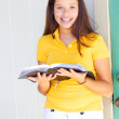 Stock Photo: Teenage Girl Reading The Bible