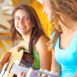 Cute Young Girl Playing Guitar — Stock Photo