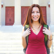 Female Student Standing Outside College Building — Stock Photo #30429657