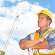 Stock Photo: Serious Building Contractor At Construction Site