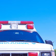 Ambulance with the nice blue sky for copy space — Stock Photo