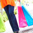 Woman Holding Shopping Bags — Stock Photo #30429897