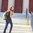 Stock Photo: Female Student Heading Off To Class