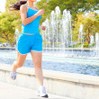 Fit Young Woman Jogging — Stock Photo