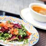 Fresh Vegetable Salad And Soup — Stock Photo #30429919