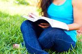 Woman Reading Bible — 图库照片