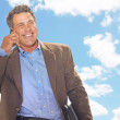Businessman On Call — Stock Photo