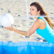 Woman Playing Beach Volleyball — Stock Photo