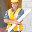 Stock Photo: Building Contractor At Construction Site