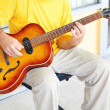 Man Playing Acoustic Guitar — Foto Stock