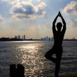 Yoga At Sunset In Miami — Stock Photo
