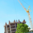Building under construction against clear sky — Stock Photo