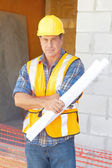 Building Contractor At Construction Site — Stock Photo
