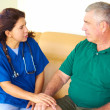 Home Healthcare With Senior Man — Foto Stock