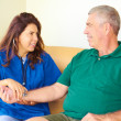 Home Healthcare With Senior Man — Stock Photo