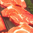 Fresh Ribeye Steaks — ストック写真