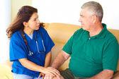 Home Healthcare With Senior Man — Stock Photo