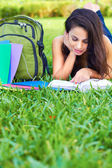 Young Woman Reading a Book — Stock Photo