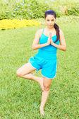 Young Beautiful Woman Doing Yoga — Stock Photo