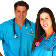 two medical professionals — Stock Photo