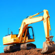 Excavation Machine Loading Soil — Stock Photo