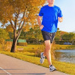 Mature Man Jogging — Stock Photo