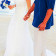 Bride and groom on the beach — Stock Photo #32941753