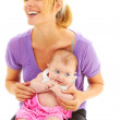 Blond mother with baby — Stock Photo #32941757
