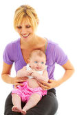 Blond mother with baby — Stock Photo