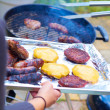 Meat on a barbecue — Stock Photo