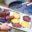 Meat on a barbecue — Stock Photo #35172763