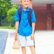 Schoolboy goes to school — Stock Photo #35172913