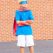 Stock Photo: Boy dressed as Superman