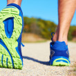 Running shoes - runner legs close-up — Stock Photo #35173097