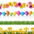 Spring Easter borders - Foto Stock