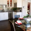 Modern kitchen and dining area - Foto de Stock