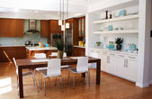 Modern kitchen and dining area — Stok fotoğraf