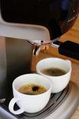 Fare il caffè espresso — Foto Stock