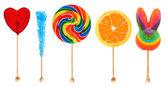 Lolipops - candy on a stick — Stock Photo