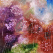 Abstract color splash oil painting - Stock Photo