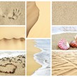 Summer sand collage — Stock Photo