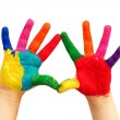 Painted child hands — Stock Photo #19394531