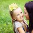 Happy mother and daughter portrait — Stock Photo