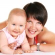 Happy mother with baby portrait — Stock Photo #19394877